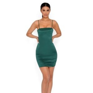NWT Oh Polly Satin green dress
